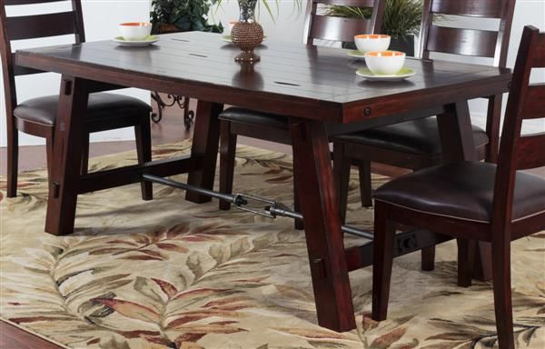 Sunny Designs Vineyard Medium Brown Dining Table Dining Table Wood Dining Table Brown Dining Table