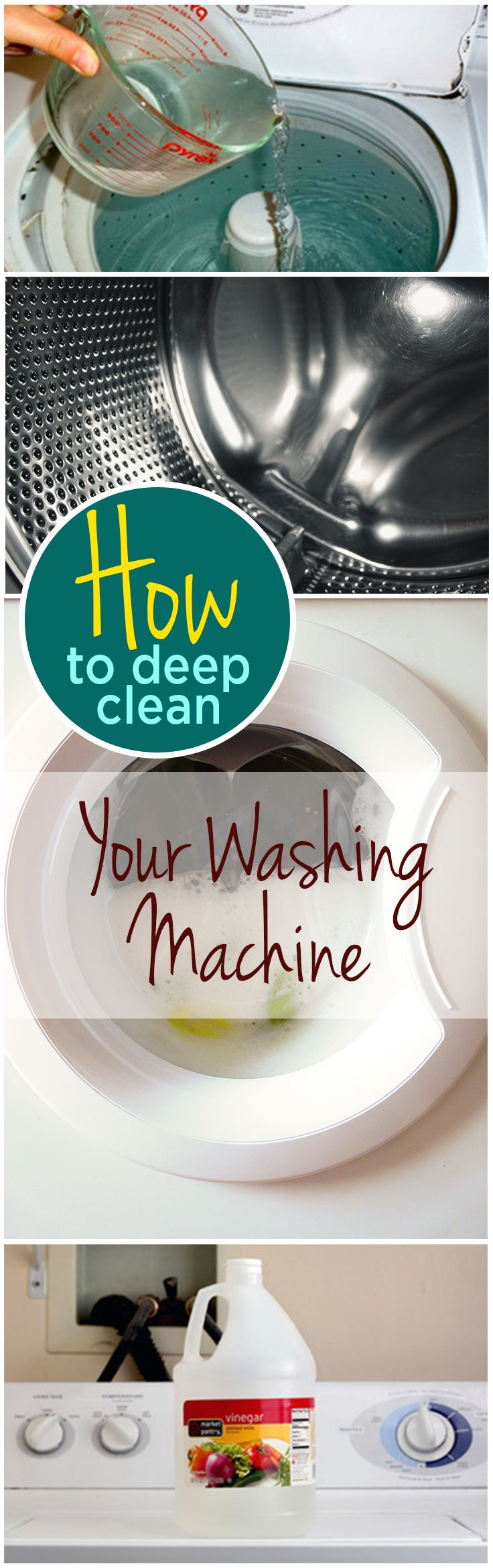 Badkamer Grondig Schoonmaken How To Deep Clean Your Washing Machine Tips Pinterest Pulire