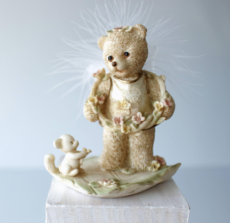 nursery decor Vintage handmade small stuffed teddy bear collectible