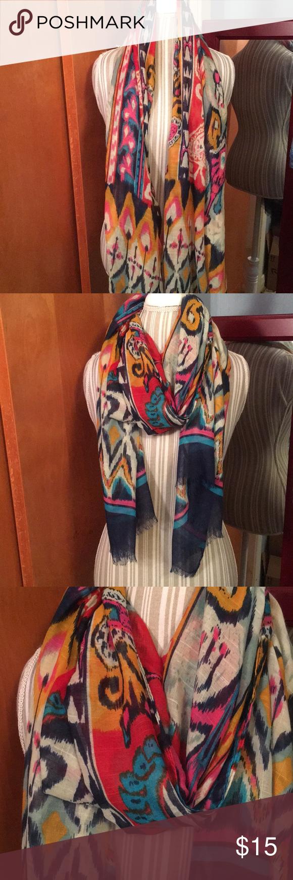 aztec print scarf my posh closet pinterest aztec scarf