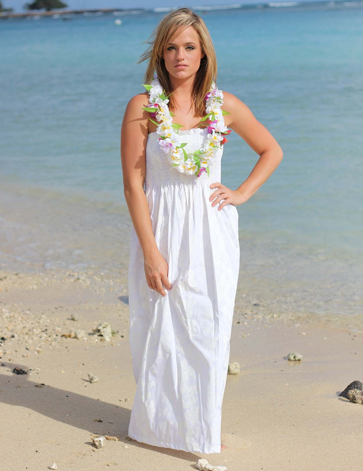 hawaiian wedding dress Check out the deal on Long Maxi Smock Top Dress Hawaiian at Hawaiian Wedding Place