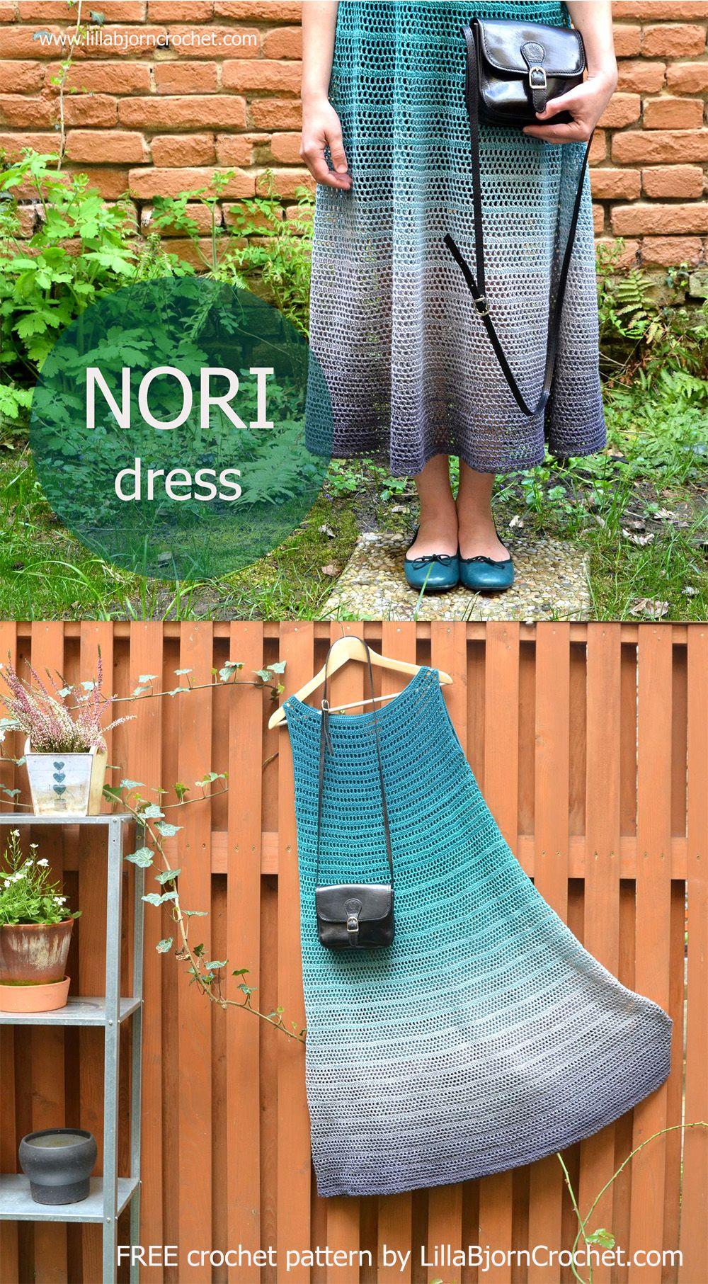 NORI dress is a FREE #crochet pattern aimed to beginners. Designed by www.LillaBjornCrochet.com #crochetdress