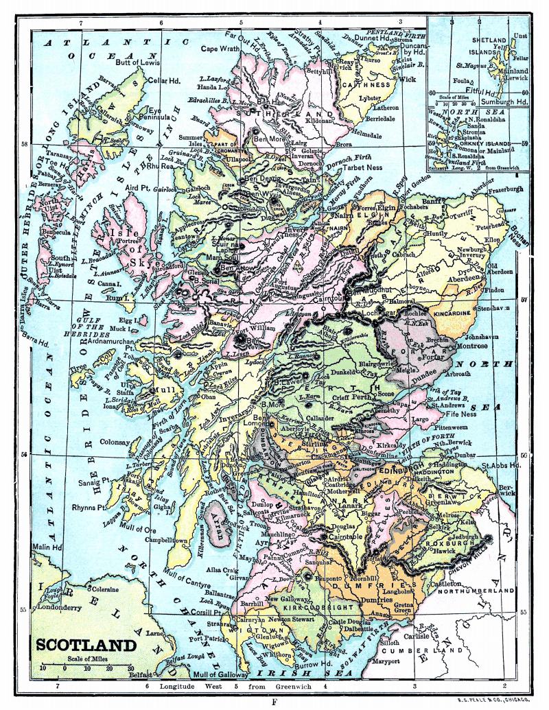 Map pdf scotland