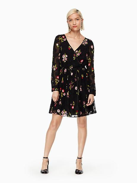 a60602a8e Kate Spade In Bloom Chiffon Mini Dress, Black - Size 12 | Products ...