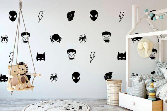 Batman Maske Wand Aufkleber Hulk Decals Boy Zimmer Etsy Hulk Kids Room Big Kids Room Big Kid Bedroom