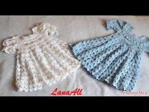 VIDEO  Vestido del bebé Pluma del ángel PASO A PASO