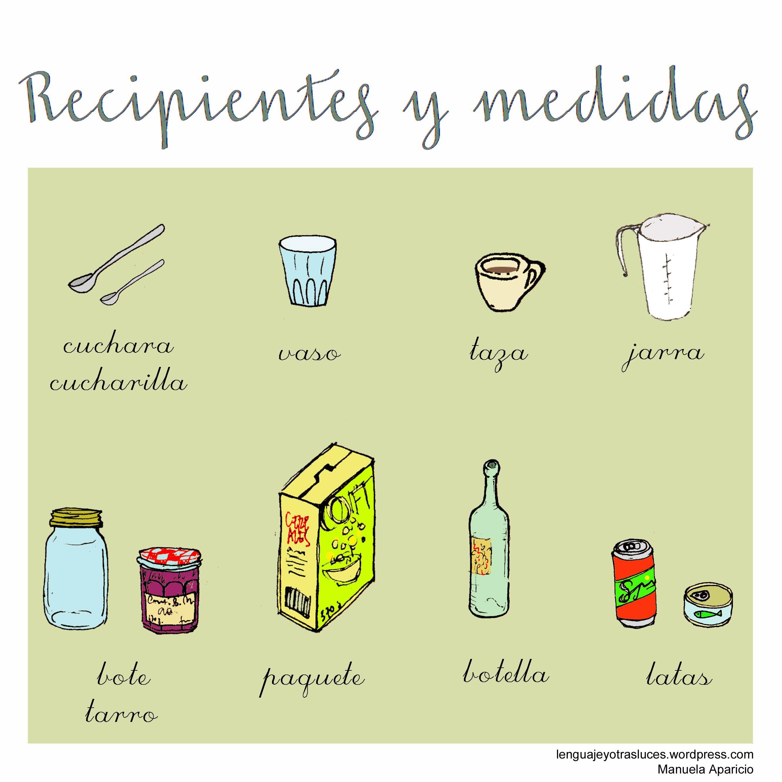Utensilios Recipientes Y Medidas De Cocina