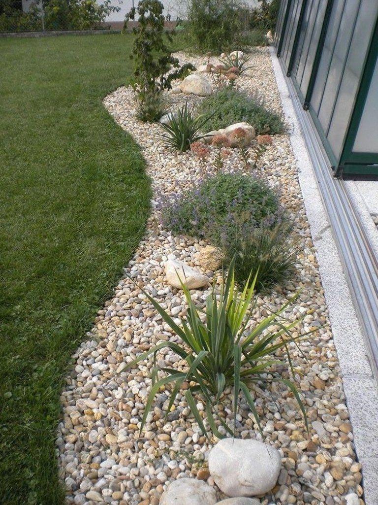 Gartengestaltung Mit Steinen Und Kies Bilder Impressum Baum Best Garten Ideen Terrasse Small Front Yard Landscaping Landscape Design Front Yard Landscaping