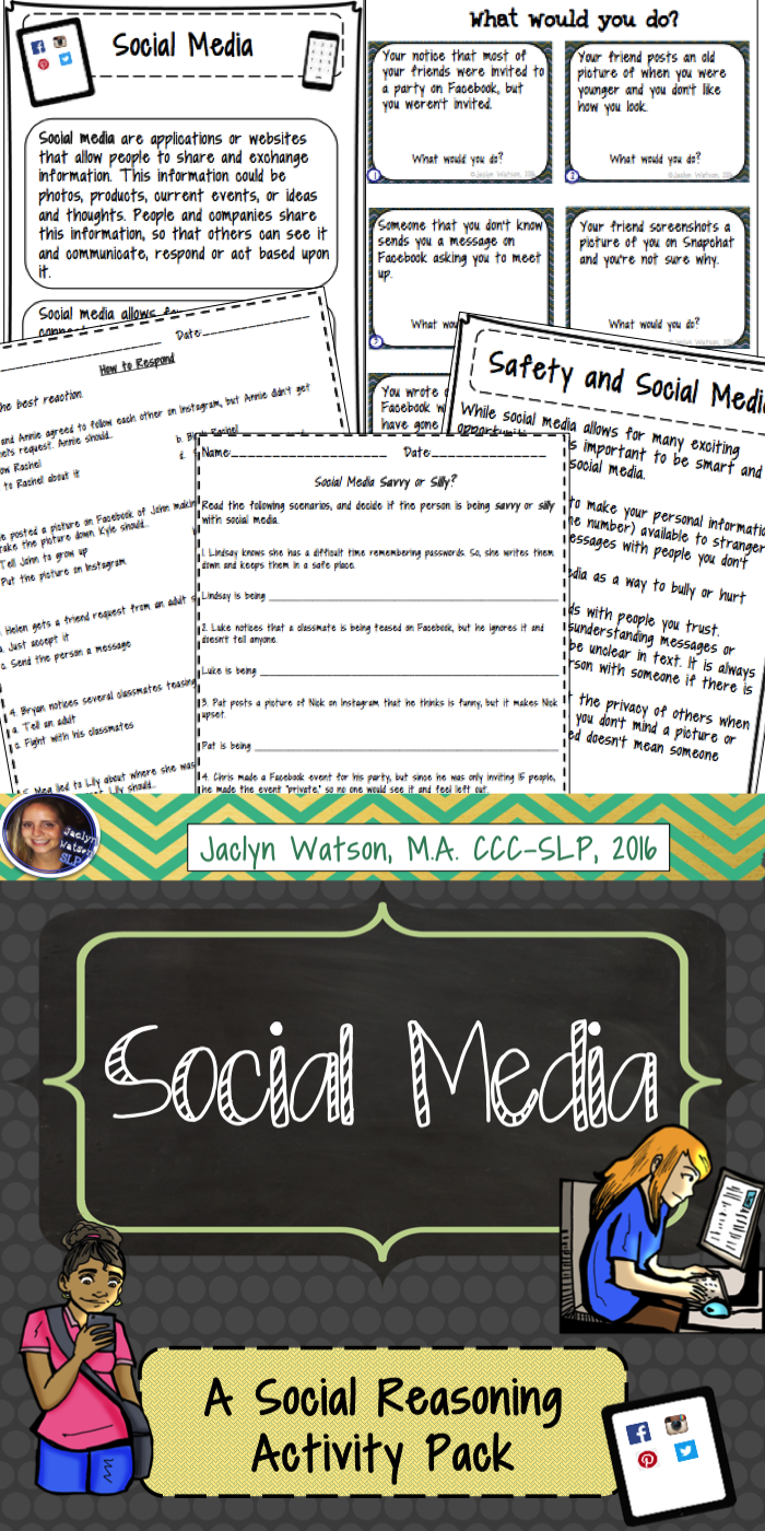 Social Skills Problem Solving: Social Media | Worksheets ...
