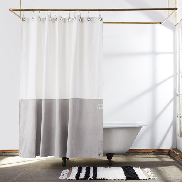 Quiet Town Canvas Shower Curtain Orient Driftwood On Neutral