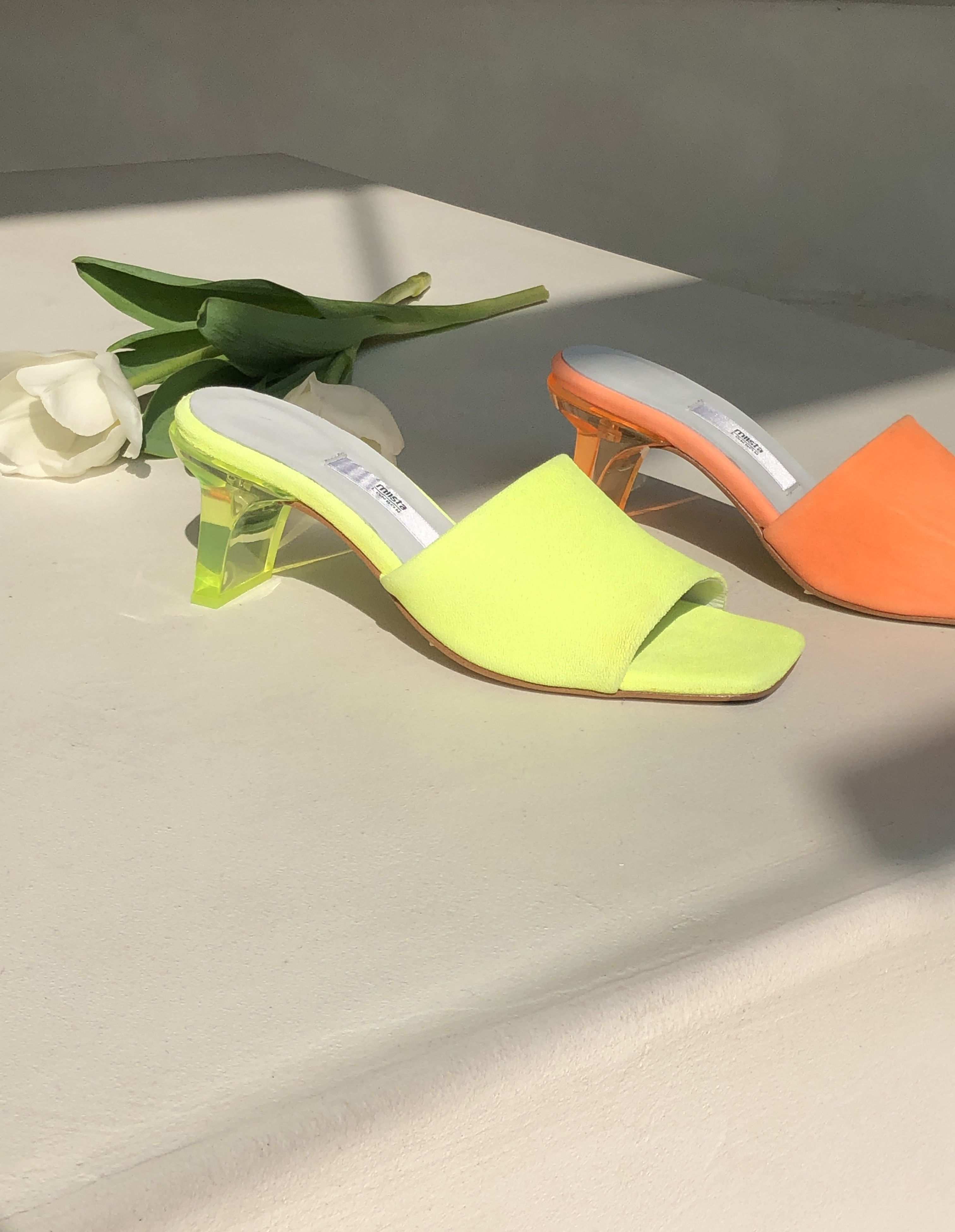 Gabriella Neon Yellow And Orange Leather Sandals Orange Leather Sandals Yellow Leather Sandals Orange Leather