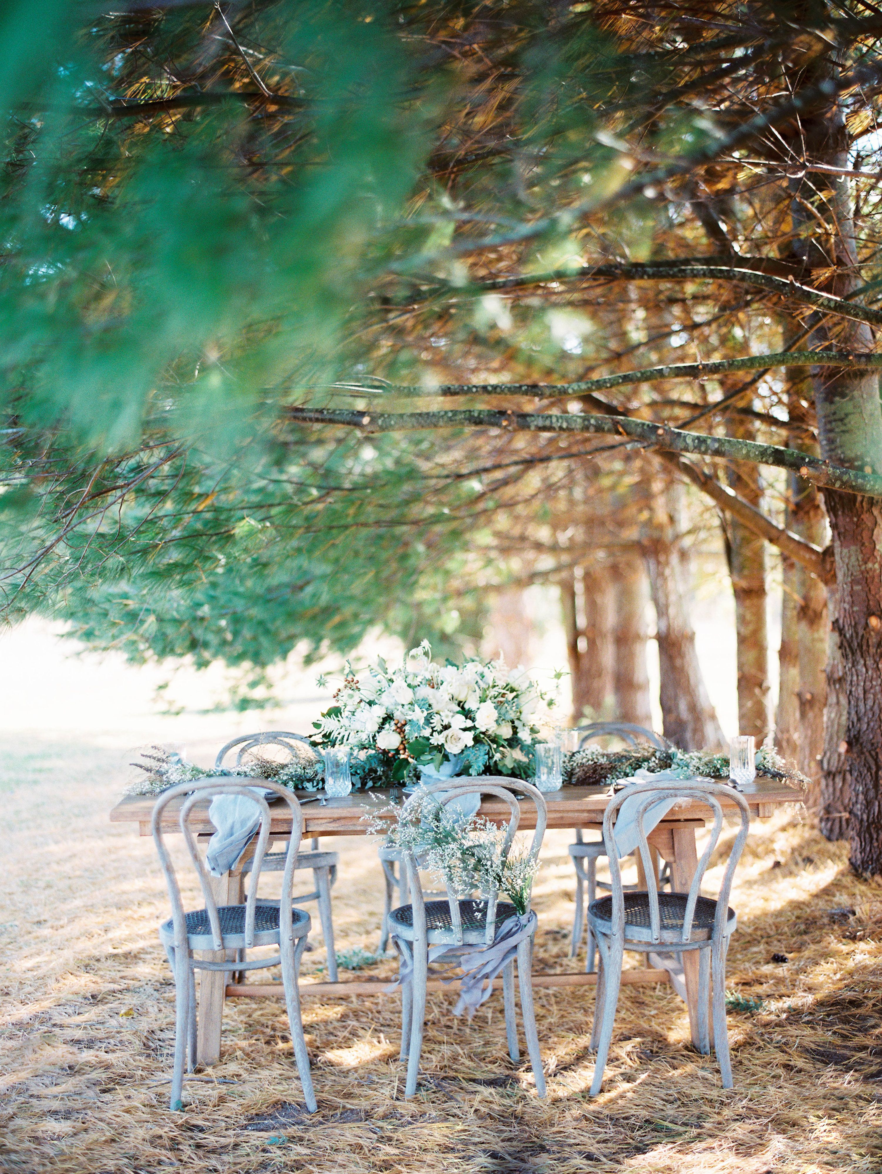 Elegant Rustic Outdoor Table | photography by http://www.michaelandcarina.com/