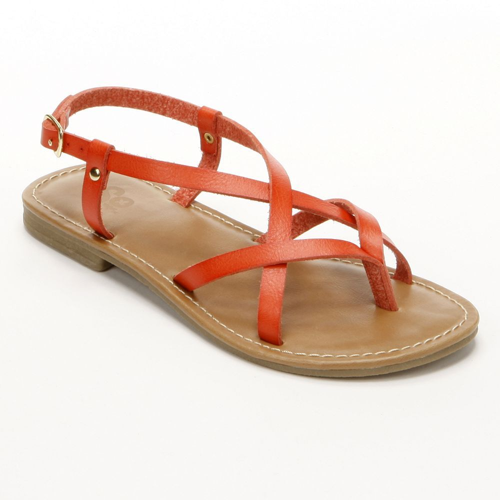 134628136e9e Paint the town coral.  sandals  Kohls