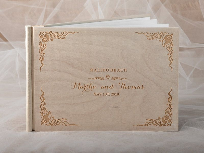 Beach Wedding Guestbook Destination Guestbook by forlovepolkadots