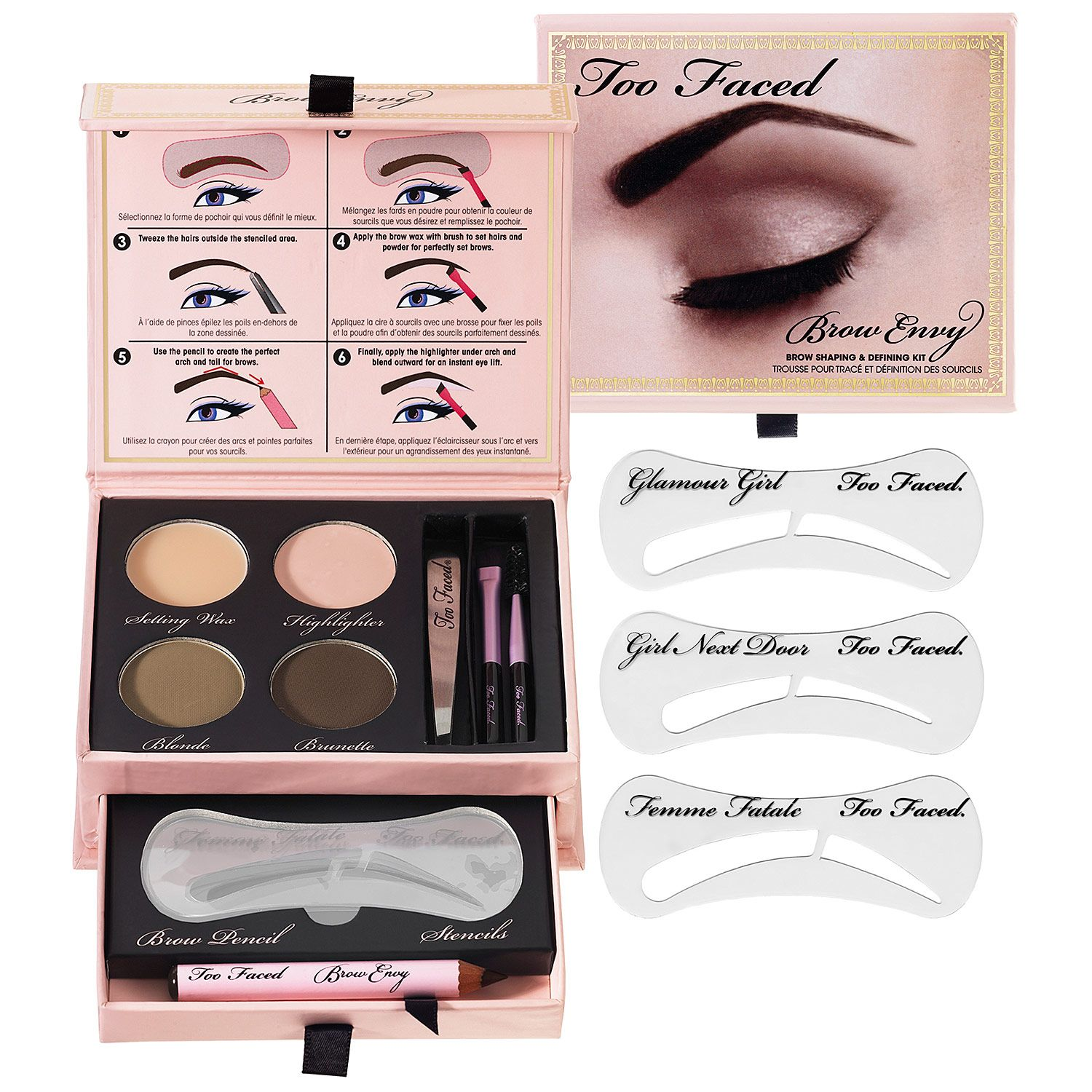 Too Faced Brow Envy Brow Shaping Defining Kit Shop Eye Sets