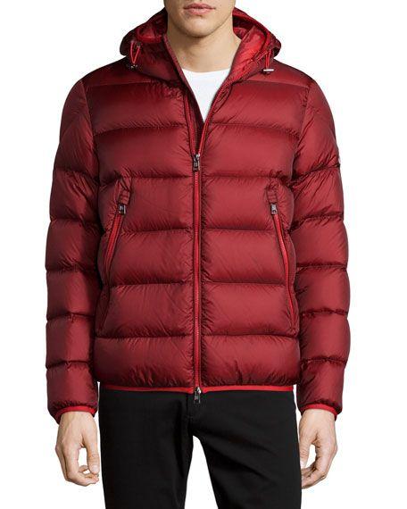 8917e99b1 MONCLER Chauvon Hooded Puffer Jacket, Burgundy. #moncler #cloth ...