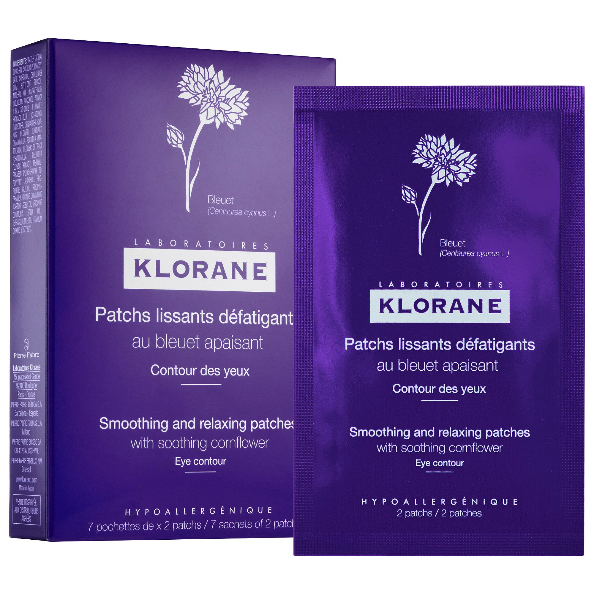 Smoothing And Relaxing Patches With Refreshing Cornflower To Moisturize And Brighten Tired Eyes Sagging Skin Remedies Beauty Products Drugstore Klorane