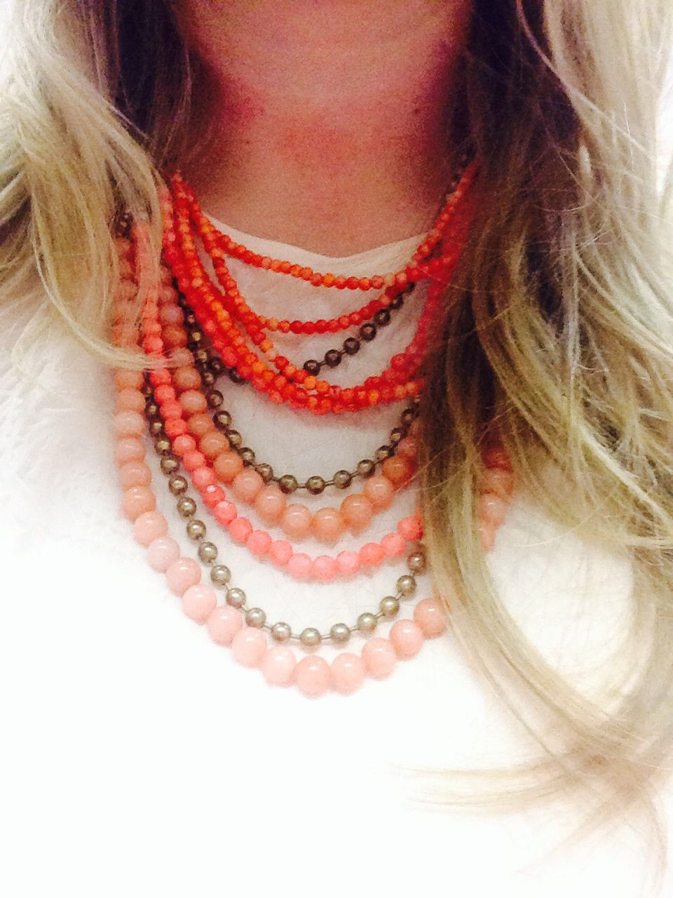 Love my new @Stella & Dot necklace. Pink on pink. Classic! #jewels #stellaanddot #pink