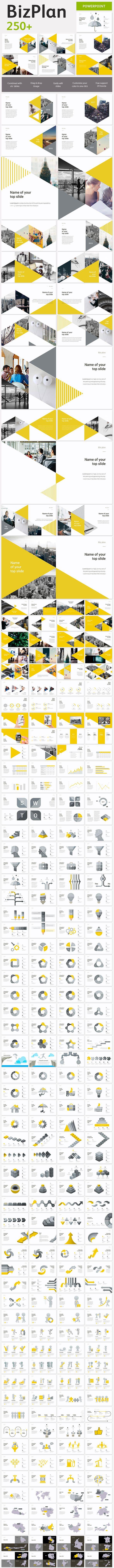 BizPlan Triangle Keynote Template | Tarjetas presentacion, Tarjetas ...