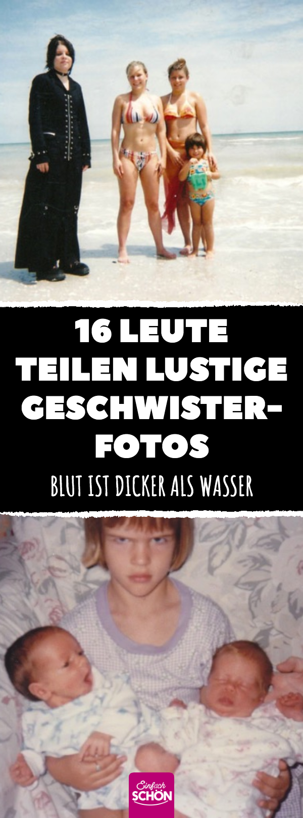 16 Leute Teilen Lustige Geschwister Fotos Blut Ist Dicker