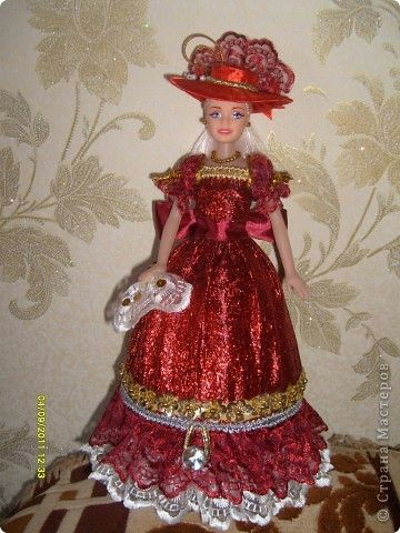МК-кукла-шкатулка | Одежда для барби, Платья и Канзаши уроки