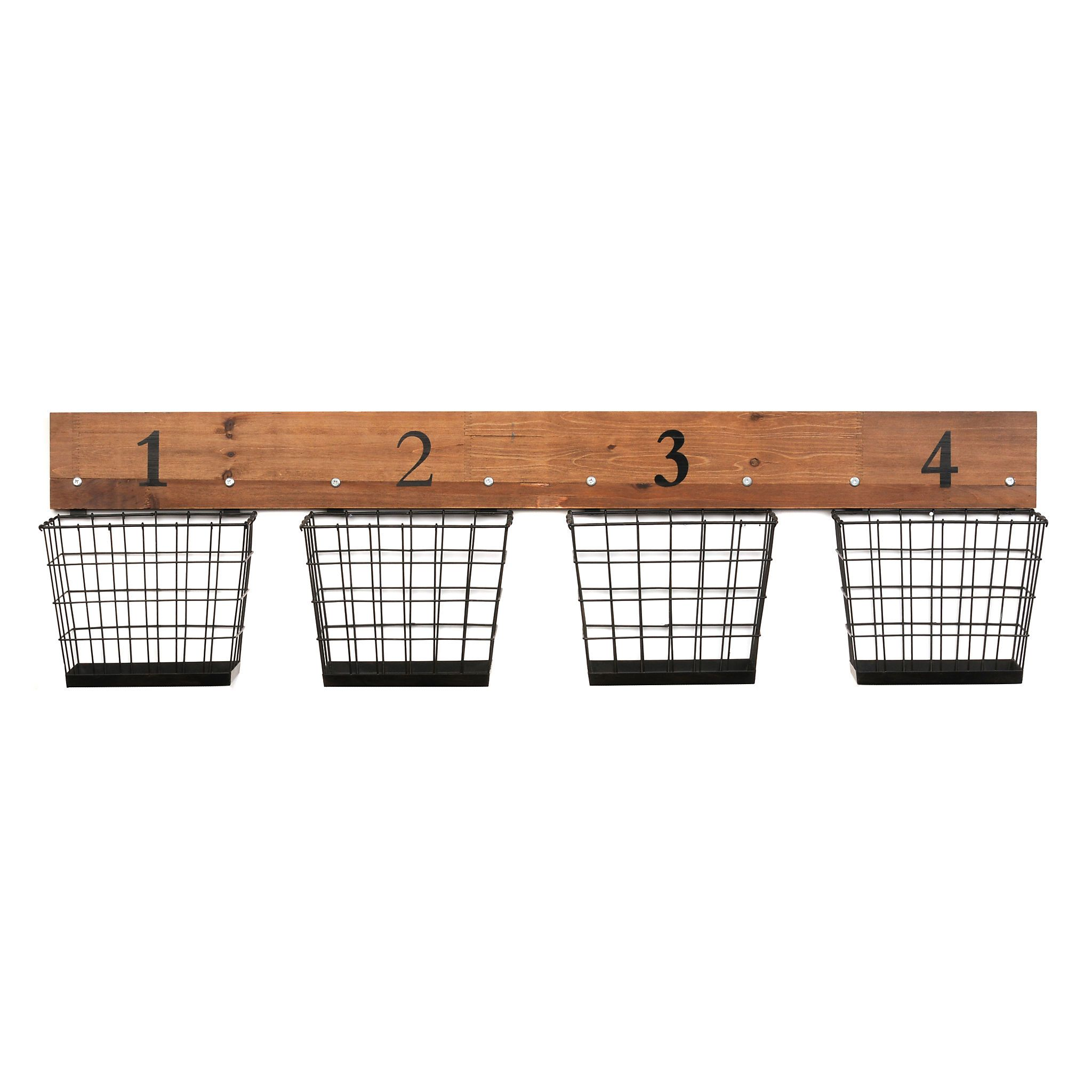 Numbered Wire Baskets Wall Storage Kirklands Wall Basket Storage Baskets On Wall Wall Storage