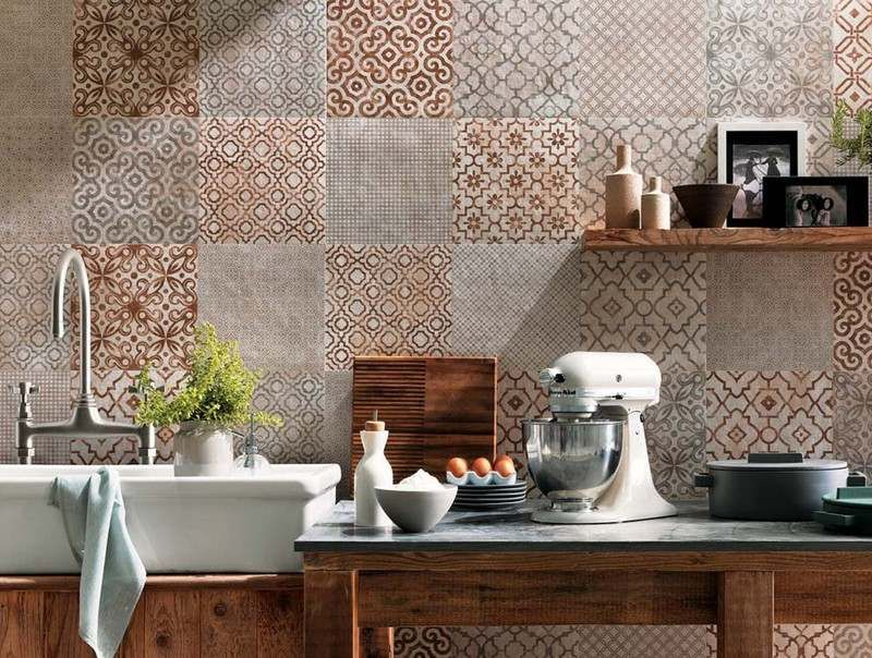Patchwork Fliesen kitchen tiles countertops backsplashes tile kitchens