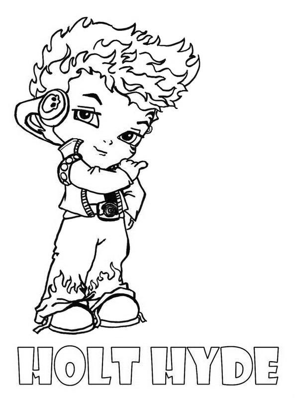 Holt Hyde Little Boy Monster High Coloring Page | Colouring Pages ...