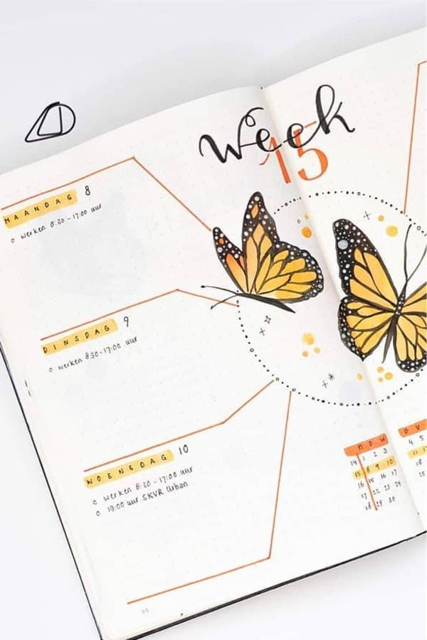 Best Butterfly Themed Bullet Journal Spreads For 2020
