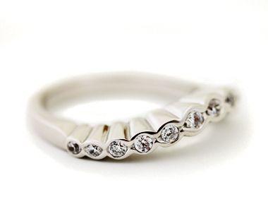 "Anu Kaartinen for AU3 Kultasepät ~""Frilla"" ring, white gold and diamonds.   AU3.fi"