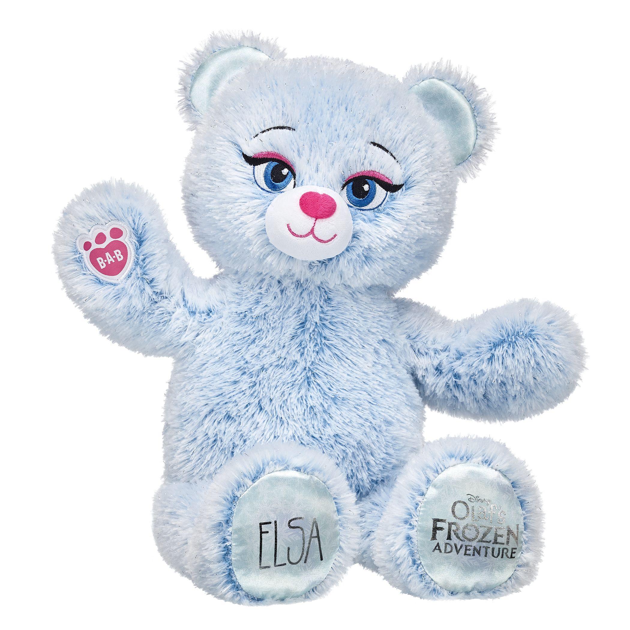 Disney Frozen Elsa Inspired Bear Custom Stuffed Animal Build A Bear Disney Frozen Elsa