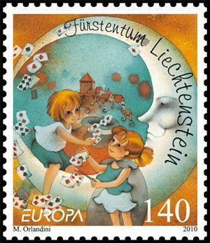 Liechtenstein - Europa 2010 Children's books stamp