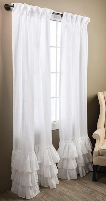 Kimberly Ruffled Curtains in 2019  Window curtains
