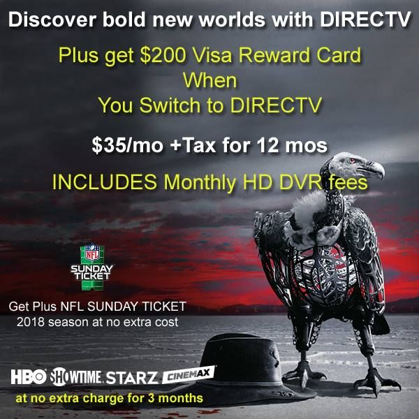 DIRECTV packages select, Phone & TV start at 84
