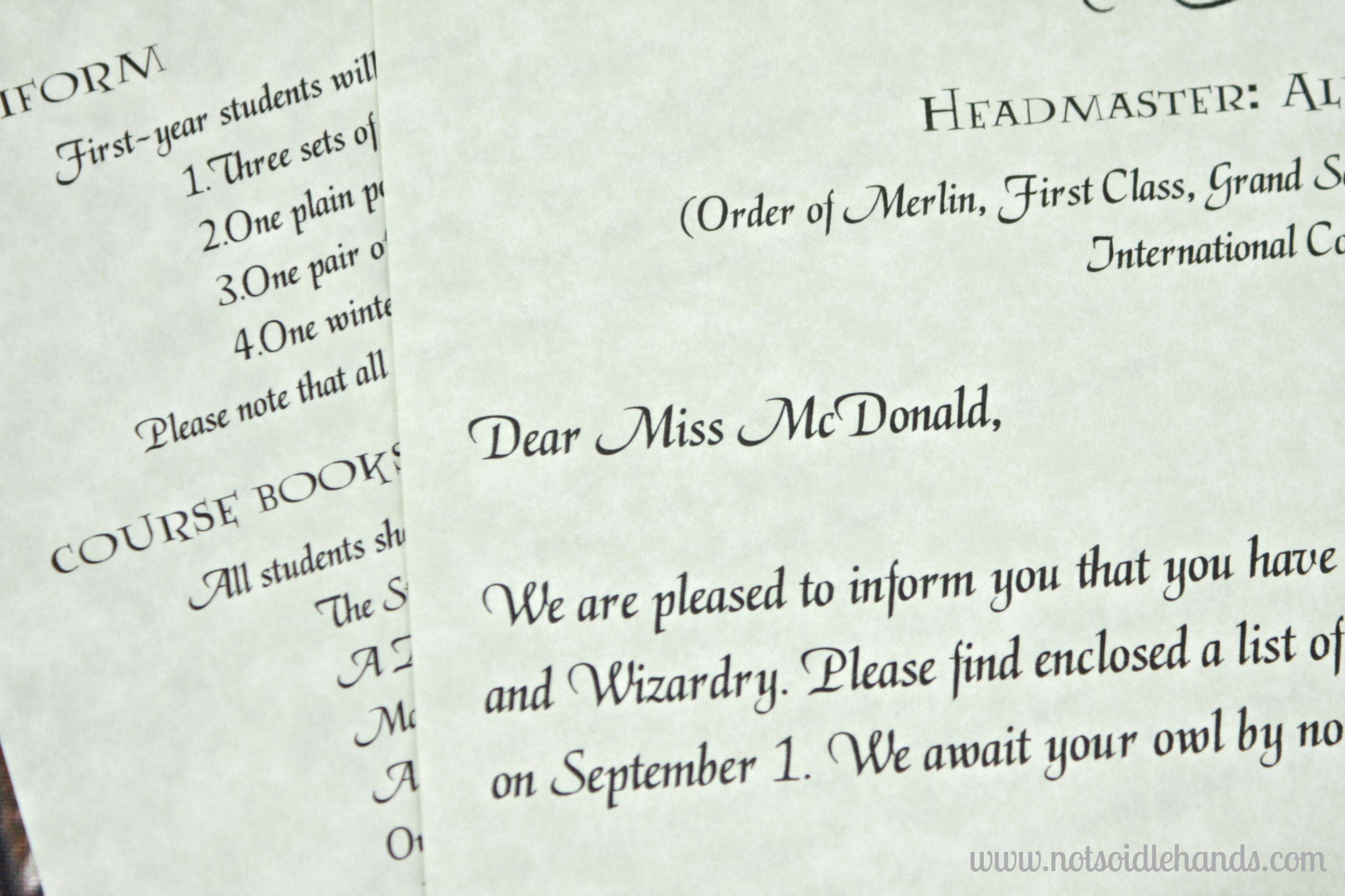 harry potter birthday invitations and
