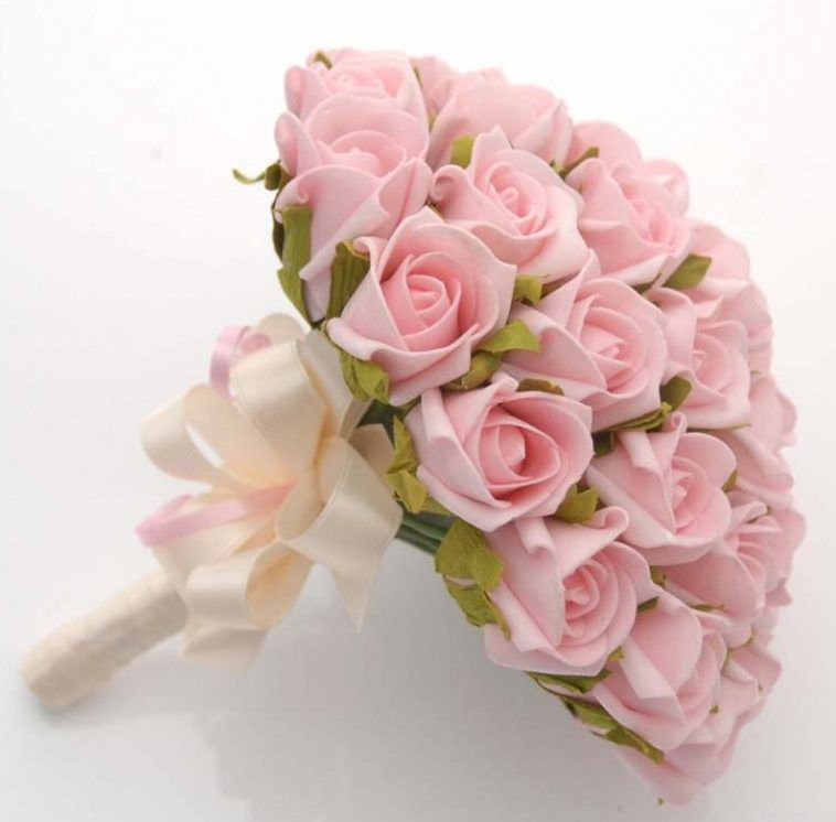 Pink Elegant Wedding Bouquets With Budget Engagement Flowers ...