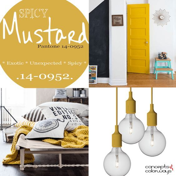 pantone spicy mustard used in interior design, 2016 color trends ...
