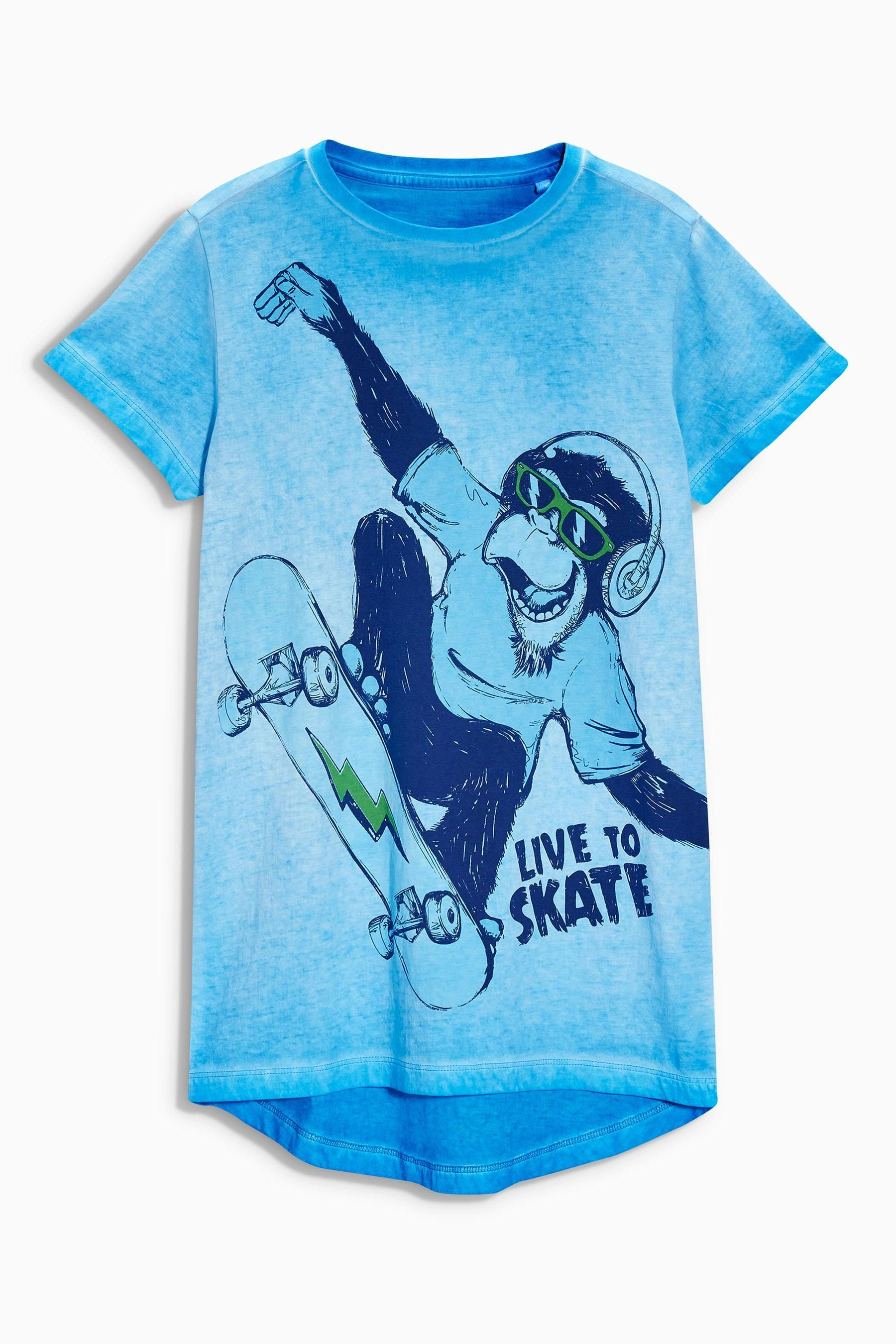 Blue Monkey Printed T Shirt 3
