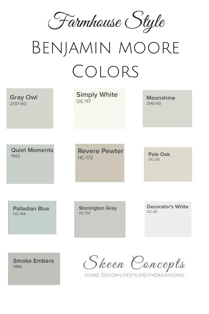 Farmhouse Style Inspired Paint Colors From Benjamin Moore How To Add Your