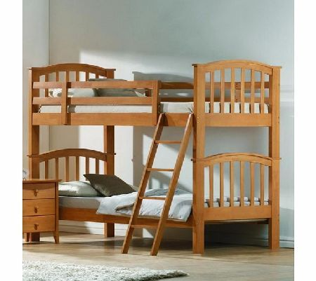 Joseph International Maple Wooden Twin Bunk Bed Brown This