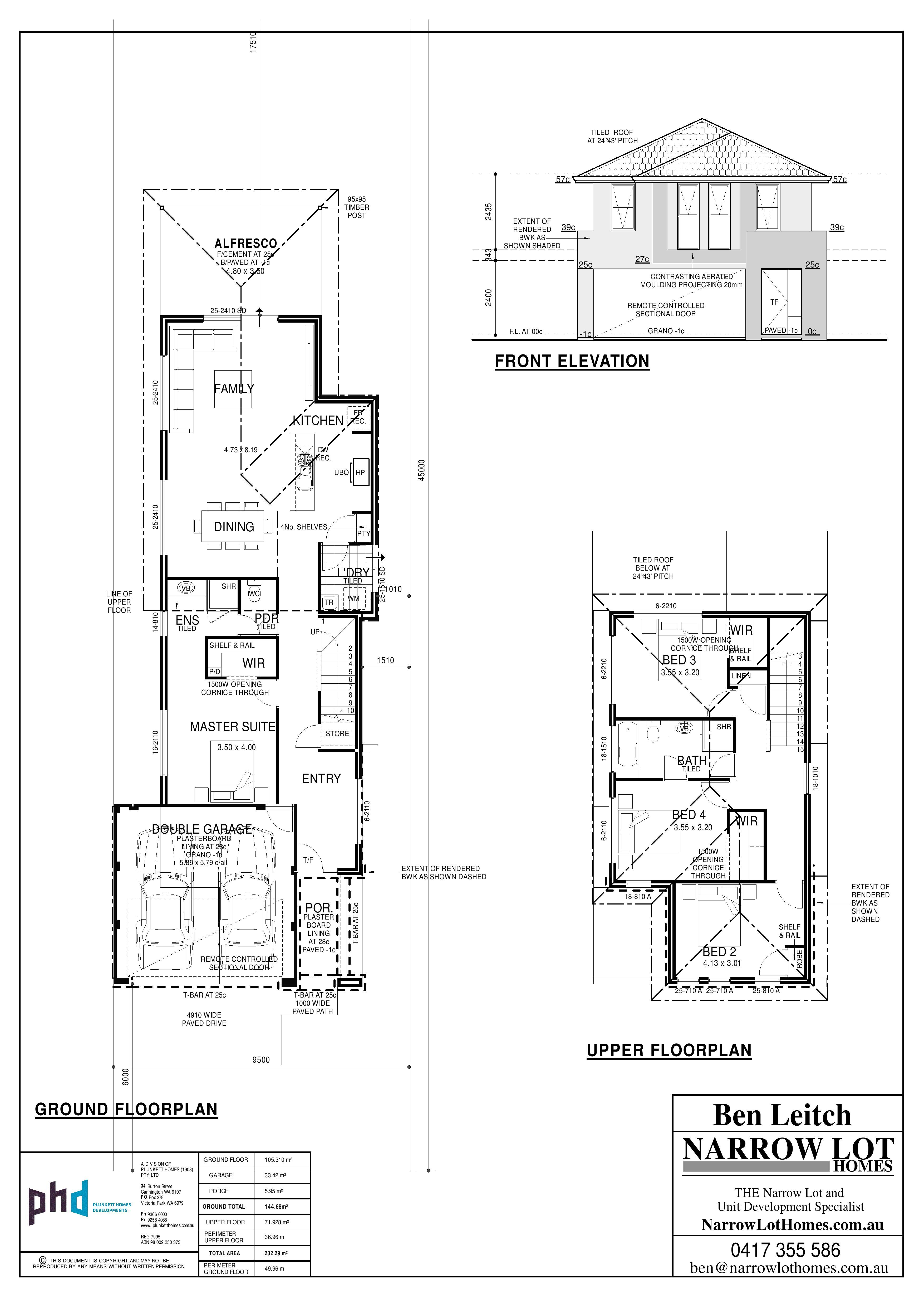 9 5m Edge Page 001 Jpg 3508 4963 Narrow House Plans Two Story House Plans Floor Plans