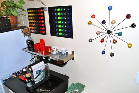Decoración mural | Nespresso crafts, Recycle coffee pods ...
