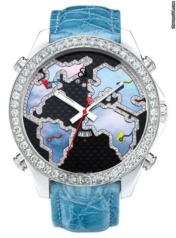 Jacob & Co. . Men's Five Time Zone World Is Yours Diamond Watch - JC-127