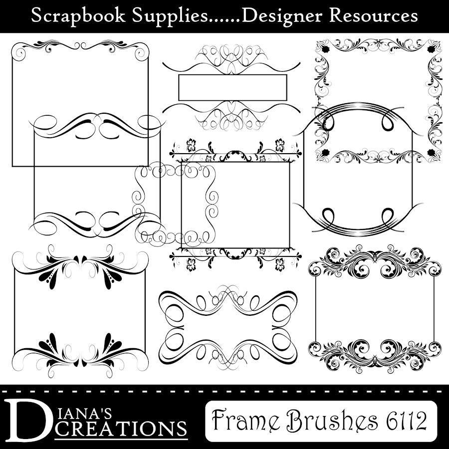 Elegant Frame Brushes by DianazDesignz.deviantart.com | BRUSH ...