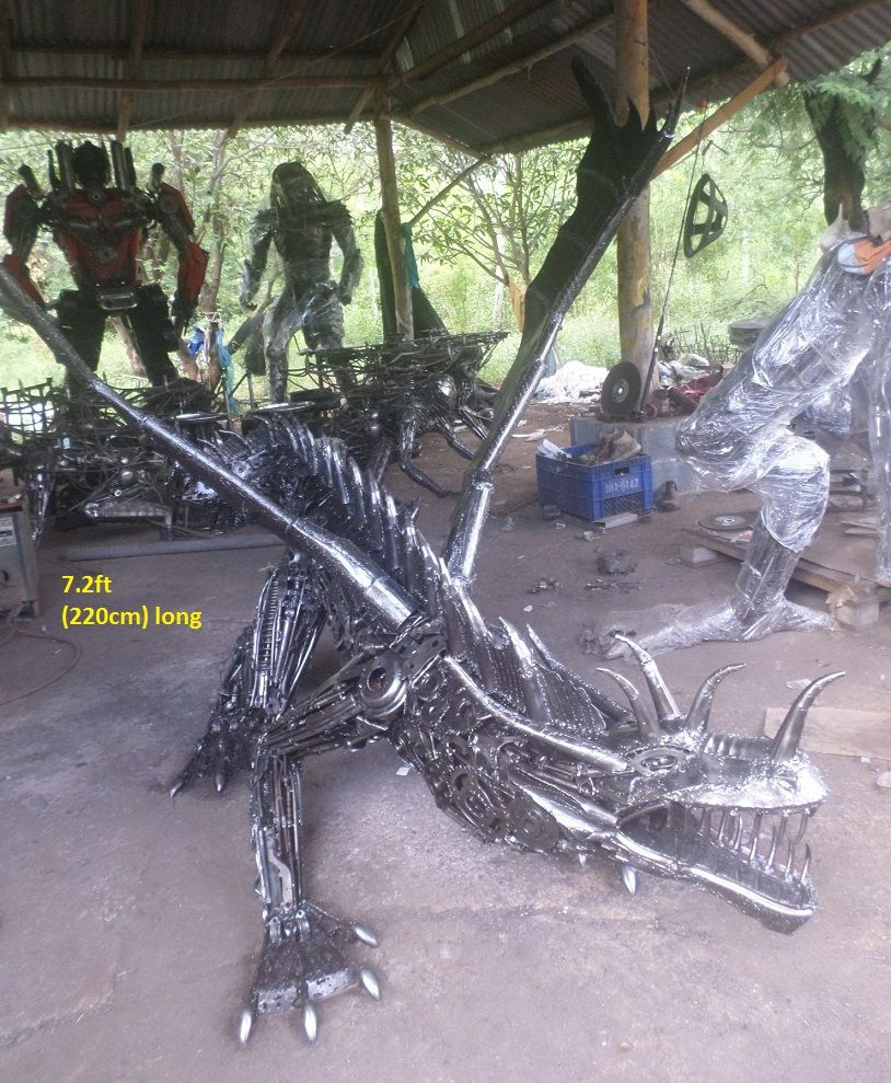 Metal Animal Art Garden Sculpture Horse Dog Bird Dragon Dinosaur Eagle Lion Bear Wild Boar Deer Bull Scrap Metal Art Metal Tree Wall Art Metal Art Diy