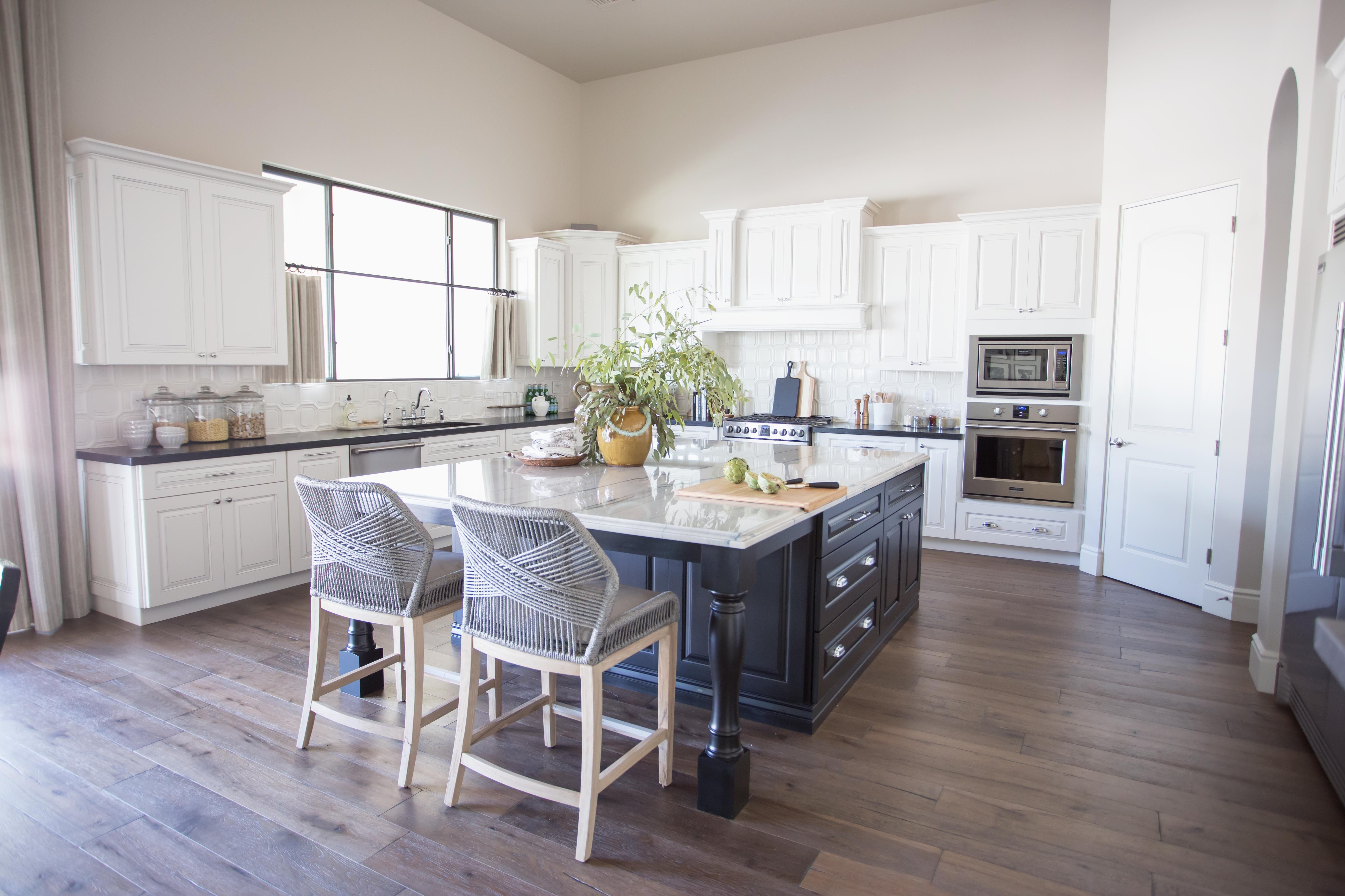 Santa Barbara Style Kitchen The Lifestyled Company Scorpio Place Project Scorpioplaceproject White Cabinets Kitchen Design Mixed Dining Chairs Kitchen Styling