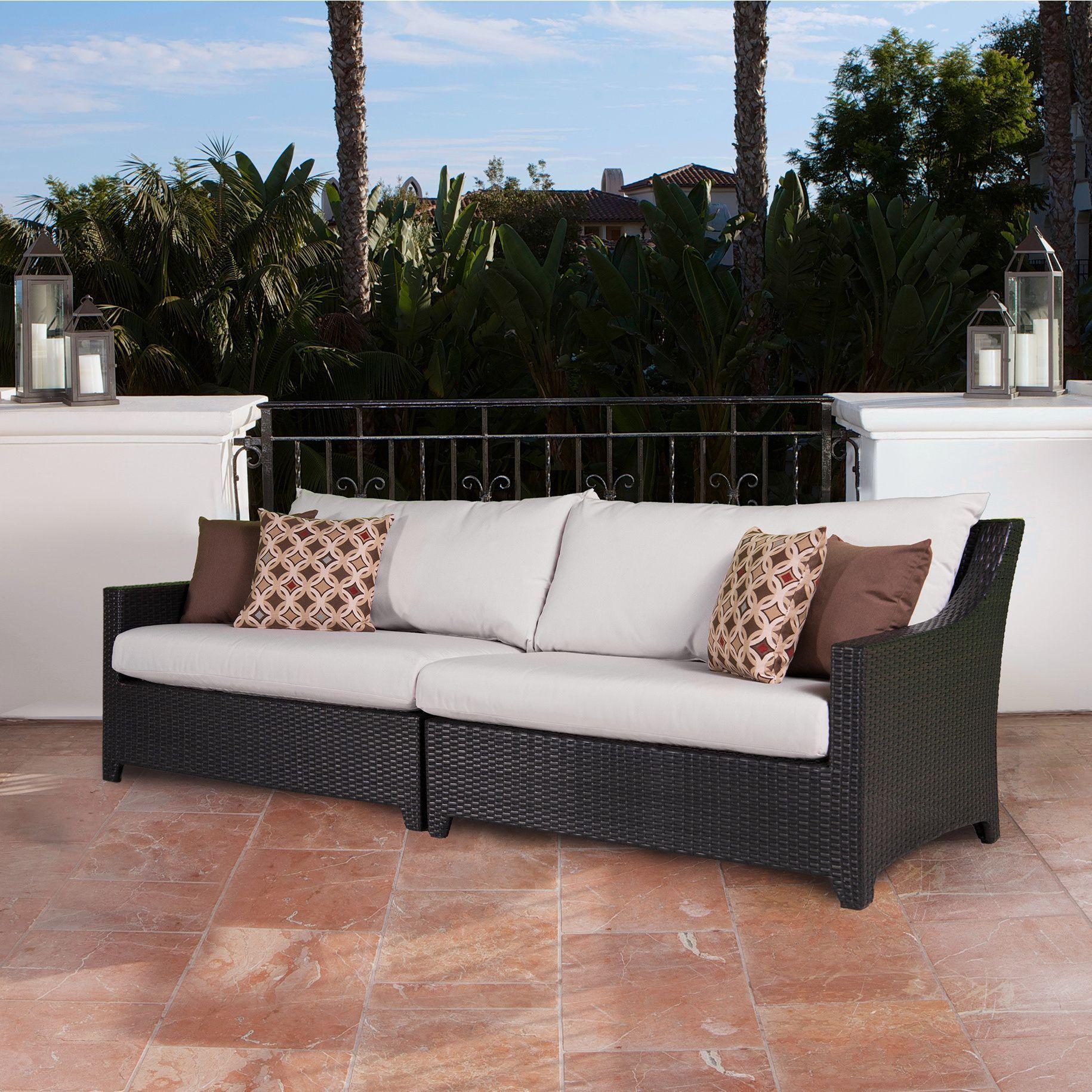 moroccan garden furniture. RST Brands Deco 2-piece Sofa With Moroccan Cream Cushions (Moroccan Cream), Garden Furniture E
