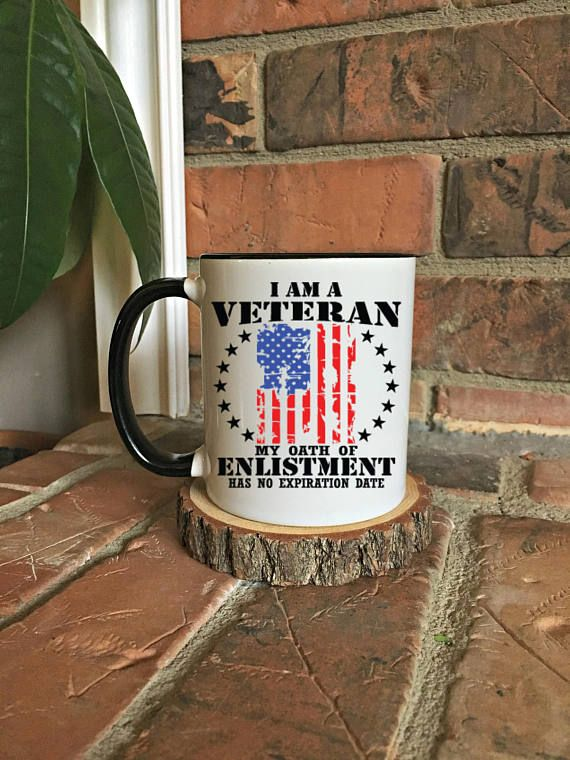 Veteran Oath Mug America Military USA Gift For Christmas Him Gifts Veterans Day