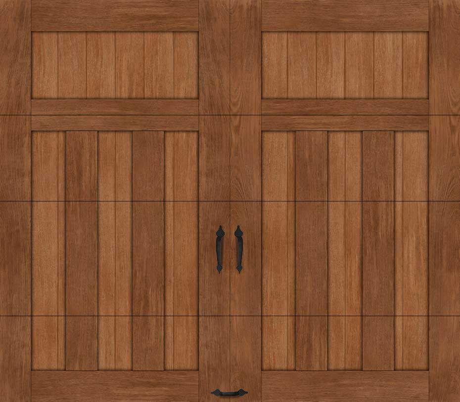 Custom Crafted Wood Look 5 Layer Ideal Garage Doors Garage Doors