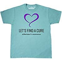 dfea0d2c inktastic - Let's Find a Cure- Alzheimer's Awareness T-Shirt ...